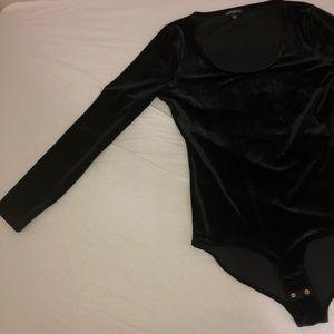J. Crew Tops - J. Crew Black Velvet Bodysuit